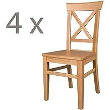Suchergebnis auf Amazon.de für: 4 stühle holz esszimmerstühle ...