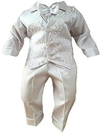 Taufanzug Festanzug Hochzeit 3Tlg Set Weiß
