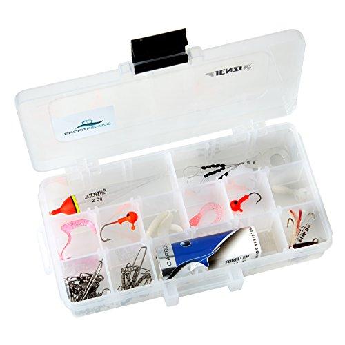 PROFITFISHING Profit Fishing® Forellenhof Advanced Set - Ausschließlich Markenartikel von Jenzi - inkl. praktischer Köderbox und Wunderwaffe JENZI Spoony Spinner mit roter Reizfeder