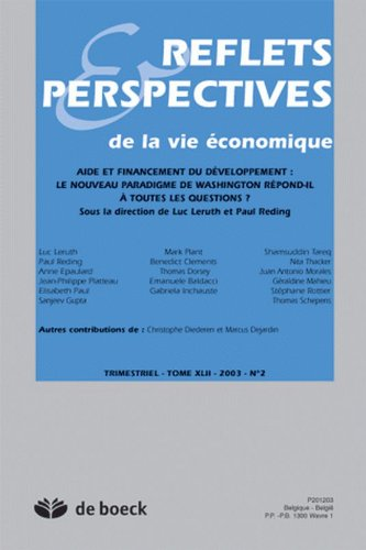 Reflets et Perspectives de la Vie Economiques 2003/2 Aide et Financement du Developpement