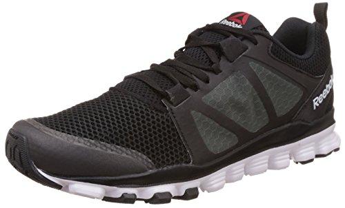 Reebok Men's Hexaffect Run 3.0 Black, Grey and White Running Shoes – 9 UK 419nUAN 0pL