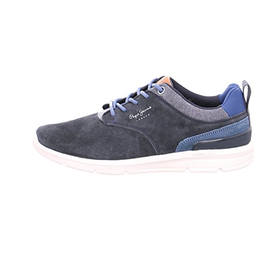 Pepe Jeans London Herren Jayden 2.1 Essentials Sneaker Blau