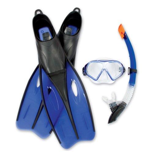 Schnorchel Set Tauchermaske Taucher Brille Taucherflossen Schwimm Flossen Größe 38 39