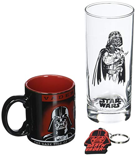 ABYstyle Abysse Corp_ABYPCK083_2 Star Wars-Pck - Vasos (29 cl, llavero y mini taza), color oscuro