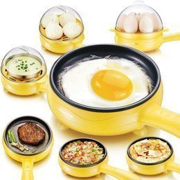 TECHICON Unique Gadget 2 In 1 Multifuctional Steaming Device Frying Egg Boiling Roasting Heating