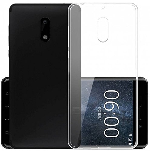Fashionury Soft Silicon Transparent Back Case Cover For Nokia 6  available at amazon for Rs.169