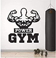 Wall art Gym Wall Sticker Fitness Bodybuilding Inspirational Poster Wall Decal Home Art Wall Decoration Living
