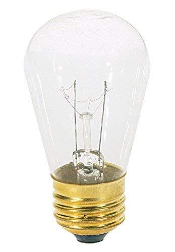 Klar Satco-glühlampe (Satco 11S14 Glühlampen mit Blinker und Schild, 11 W, E26 S14, 24 klare Glühbirnen)