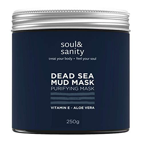Dead Sea Mud Mask mit Aloe Vera und Vitamin E | Detox Maske | Gesichtsmaske | Purifying Mask | Maske gegen trockene und unreine Haut | Anti Aging | Anti Mitesser
