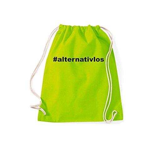 Lime Kultsack Gymsack Hashtag ALTERNATIVLOS Turnbeutel Aq4vFx