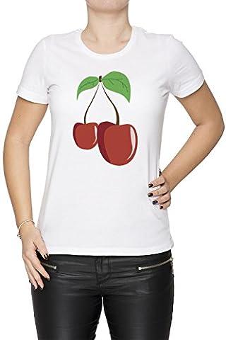 Cerise Femme Débardeur T-Shirt Blanc Taille XL Women's Tank White