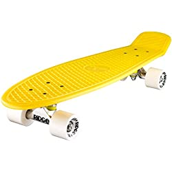 Ridge Big Brother Cruiser - Skateboard, color amarillo/blanco, 69 cm