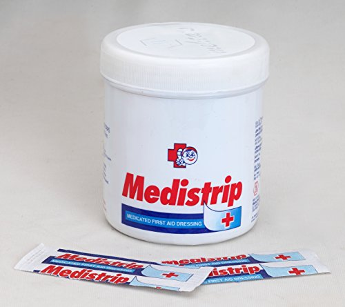 Medistrip Medicated First Aid Dressing (19 mm X 70 mm size) Pack of 100 Strips