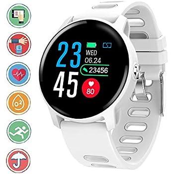 Smartwatch en Color de Alta definición, IP68 Sumergible Reloj Deportivo con Monitoreo de la Frecuencia Cardiaca Sincron de info Pulsera Inteligente ...