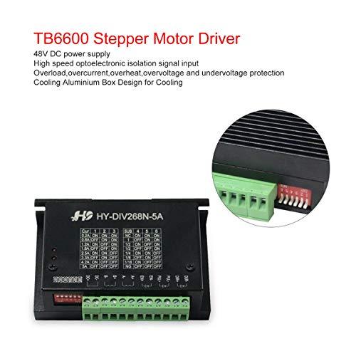 Gugutogo TB6600 5A CNC Controller Stepper Motor Driver NEMA 17 23 TB6600 Single Axes Two Phase Hybrid Stepper Motor for CNC - Hybrid Stepper