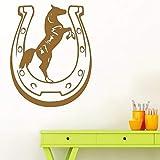 AiyoAiyo Hübsches Pferd Wandaufkleber Personalisierte Kreative Für Kinderzimmer Aufkleber Kreative Aufkleber kaffee 30 cm X 37 cm