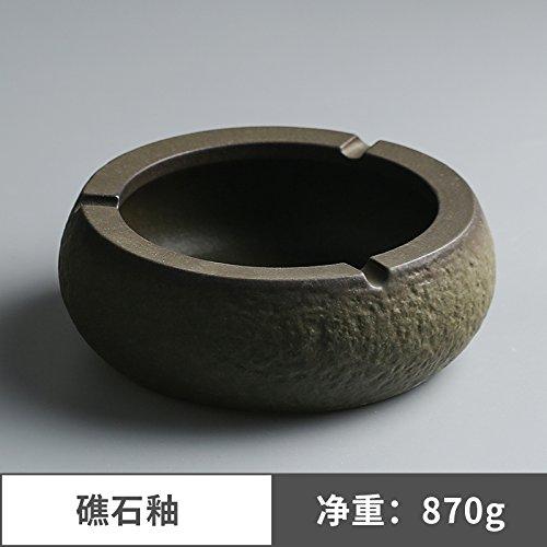 Preisvergleich Produktbild XOYOYO Steinzeug Keramik Aschenbecher Kreative winddicht Aschenbecher groß Chinese-Style minimalistischen Home Office Aschenbecher,  Rock Glasur