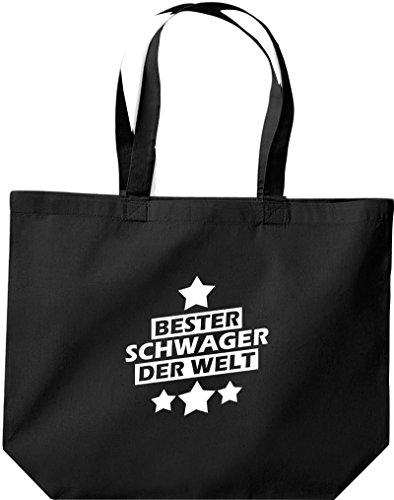 Shirtstown große Einkaufstasche, bester Schwager der Welt, schwarz