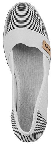 Elara Keilpumps Wedges | Bequeme Sportliche Damen Pumps mit Keilabsatz Weiss Style