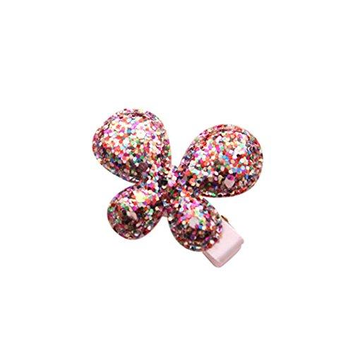Haarklammern Baby Kinder Mädchen Kinder Shiny Princess Pailletten Sterne Herz Schmetterling Haarspange (G)