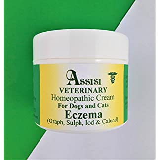 ASSISI VETERINARY Eczema Cream Homeopathy for Dogs, Cats and Small Animals. 50g in deluxe jar – Aids in the natural treatment of flaky dry skin, hot spots, skin irritation and eczema conditions 419nawQqeCL