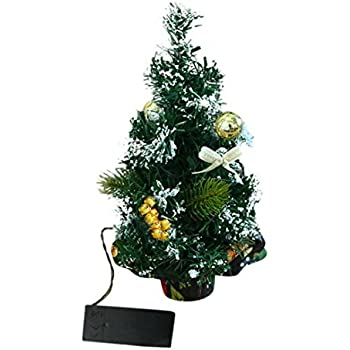 gravidus k nstlicher weihnachtsbaum geschm ckt mit led lichterkette 40 cm silber. Black Bedroom Furniture Sets. Home Design Ideas