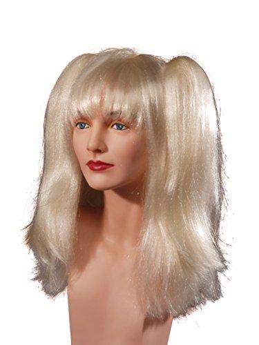 Perruque Blonde avec 2 grandes couettes