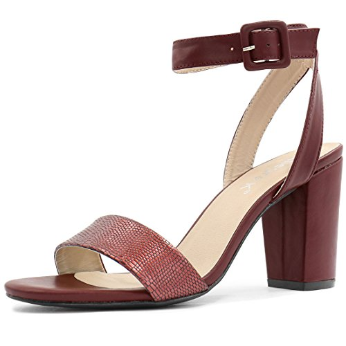 allegra-k-woman-textured-vamp-chunky-heel-ankle-strap-sandals-wine-size-us-6