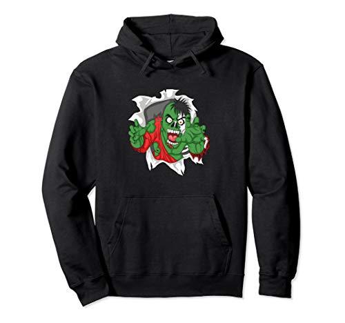 Skeleton Sweatshirt Hoodie Kind Kostüm - Zombie Skeleton Halloween Kostüm Outfit Herren