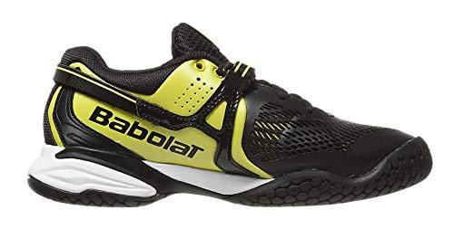BABOLAT Propulse 4 Scarpa da Tennis Uomo, Nero/Bianco/Giallo, 45