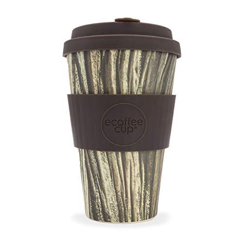 Ecoffee Cup Wood Pattern Baumrinde ? 396,9 gram/400 ml ? réutilisable en bambou Tasse à café