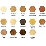 kowoodworks Chunky Rustic Solid Pine Garden Bench Seat Wooden Chair Dark Oak 3 feet