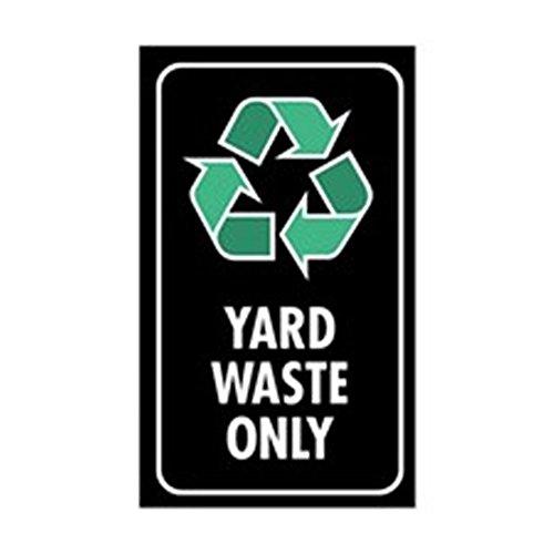 CafePress Yard Waste Nur Aufkleber (Schwarz W/Symbol)-Rechteck Bumper Aufkleber Auto Aufkleber