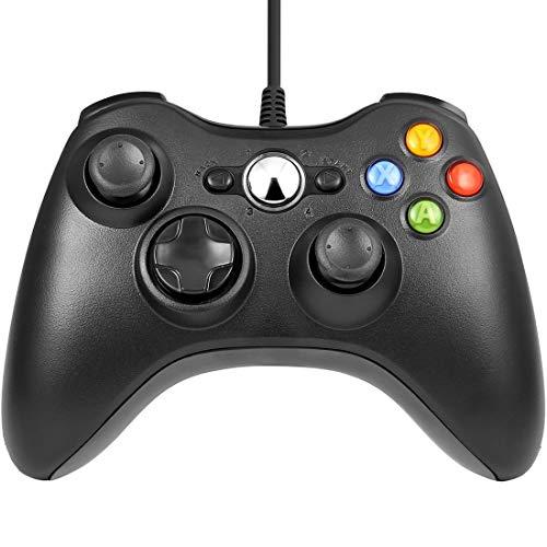 Schwarz Wired USB Game Pad Controller Gamepad Joystick für Microsoft Xbox 360 PC Schwarz