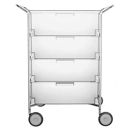 Kartell 2335L1 Container Mobil, 4 Schubladen, eisfarben