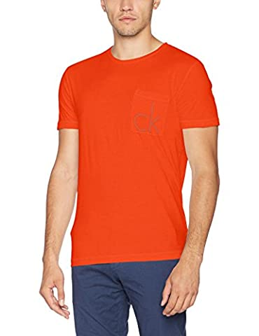 Calvin Klein Typor Cn Tee Ss, Pull sans Manche Homme, Rouge (Rebel Red), X-Small