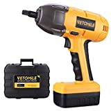 VETOMILE 18V Cordless Impact Wrench Max 400Nm Torque with Rechargeable Lithium-Ion Battery, Socket