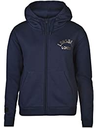 Lonsdale London Sweat zippé à capuche pour femme Bleu marine à capuche pour homme Sweat Vêtements de sport