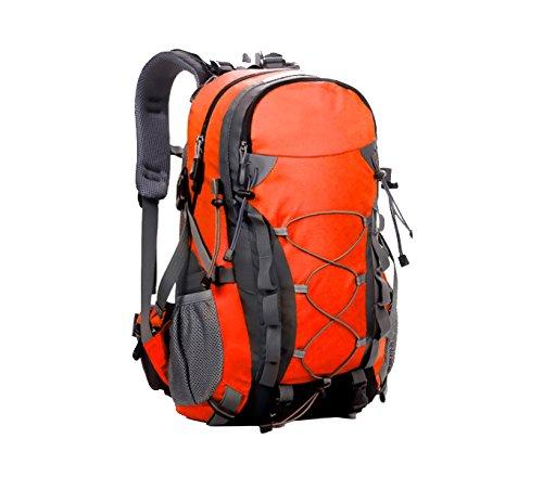 Yy.f Sacchetti Di Alpinismo Esterno Borsa Ampia Corsa Capacità Di Spalla Borse 40L Litri Impermeabile Campeggio Trekking Zaino Multifunzionale. Multicolore Orange