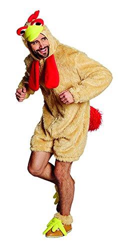 Mann 2 Kostüm Zebra - Hahn Hahnkostüm Tunika Tierkostüm Hahnoverall Kostüm für Herren