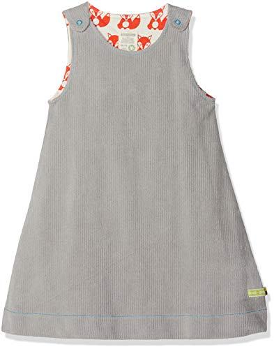 loud + proud Baby-Mädchen Kleid Wendekleid Cord, Grau (Grey Gr), 92