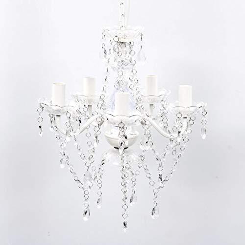 VidaXL Lámpara Colgante Araña Cristales Transparentes