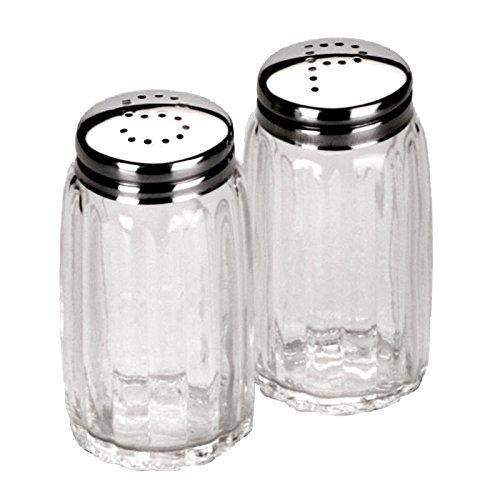 IBILI Salz-/Pfefferstreuer-Set klein, Edelstahl, Silber/transparent, 9 x 8 x 4 cm, 2-Einheiten Silber Salz