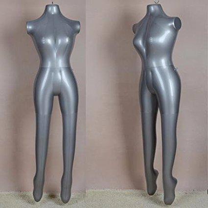 Shreeji Premium Female(Ladies) PVC Plastic Air Filled Full body mannequin display dummy Inflatable