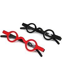 Inlefen Mini lunettes de lecture 2 Pack Charnière à ressort Rétro Ronde  Lunettes ... c51a74023c69