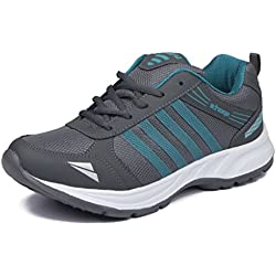Asian Shoes Wonder 13 Grey Firozi Men's Mesh Sports Shoes- 10 Uk/Indian