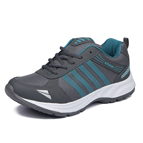Asian Shoes WONDER 13 Grey Firozi Men Sports Mesh Shoes 9 UK/Indian