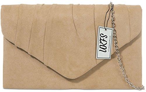 UKFS signore autunno Designer Handbag velluto sera della busta del sacchetto di frizione abbronzatura