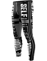 Zipravs Herren Damen Kompression Lang Hosen Grundschicht für Sport Fashion