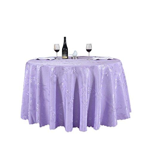 Heheja Rond Rectangulaire Carré Satin Nappe Mariage Restaurant fête Nappe Violet Clair 260cm